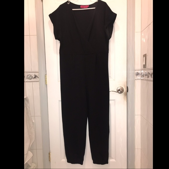 3d7ed38f9980 Boohoo Plus Pants - BooHoo Plus Front Wrap Jumpsuit Size 20 Black